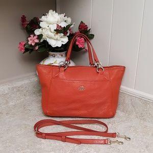 Classic VTG Retro Leather Coach Red Orange Bag